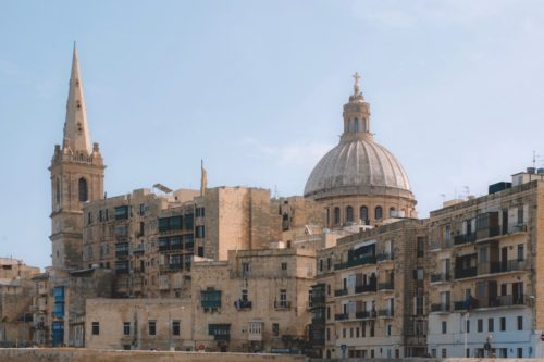 Valletta grand buildings in Malta
