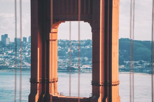 Golden Gate Bridge in San Francisco, United States.