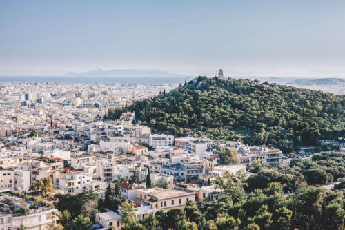Building scenery in Athens, Greece