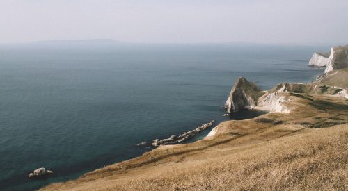 Picturesque sights in Lulworth Cove